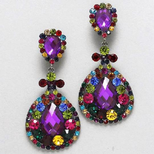 Other Rhinestone and Crystal Clip On Earrings Image 2
