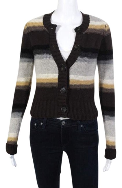 Preload https://img-static.tradesy.com/item/23837767/vince-cashmere-striped-crew-neck-button-down-cardigan-70865-sweater-0-1-650-650.jpg