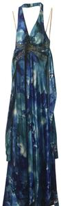 turquoise and dark blue Maxi Dress by Masquerade