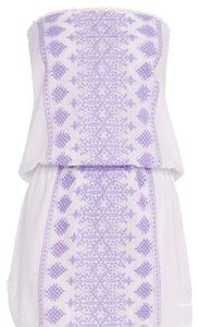 Melissa Odabash short dress white with lilac detailing on Tradesy