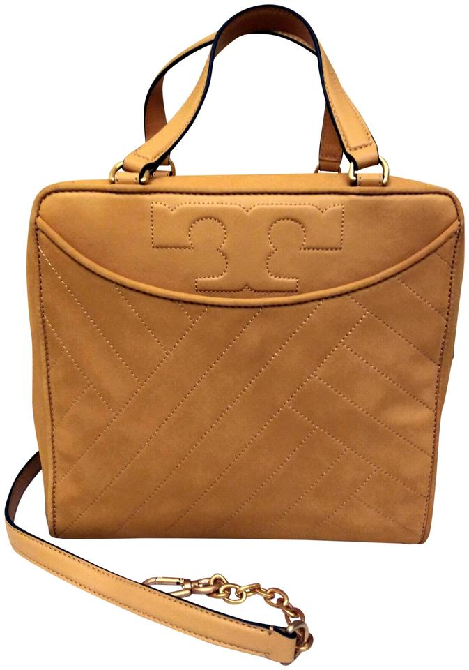 0460050de09 Tory Burch Alexa Quilted Square Yellow Leather Cross Body Bag - Tradesy