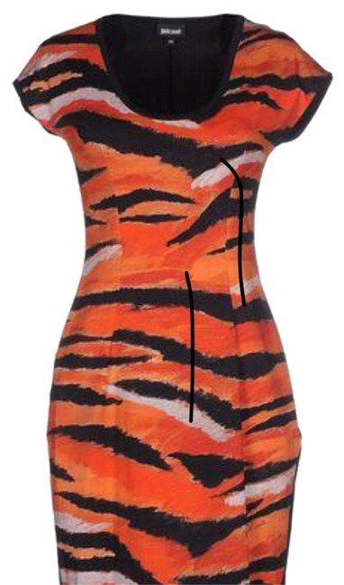 Preload https://img-static.tradesy.com/item/23838035/just-cavalli-orange-jersey-short-casual-dress-size-4-s-0-2-650-650.jpg