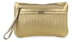 Burberry Nevin Leather Gold Clutch