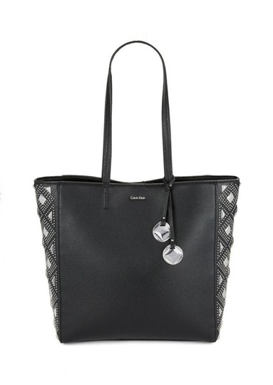 Preload https://img-static.tradesy.com/item/23838128/calvin-klein-floral-perforated-black-studded-leather-tote-0-0-540-540.jpg