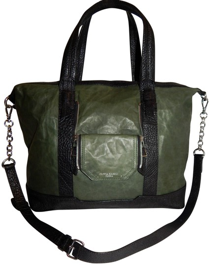 Olivia Harris Cobain 2way Leather Satchel in Green Image 0