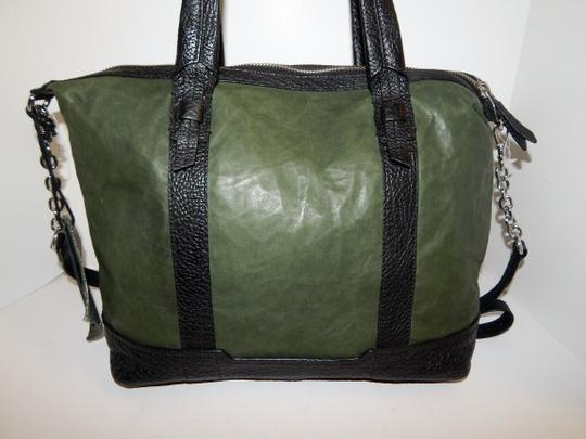 Olivia Harris Cobain 2way Leather Satchel in Green Image 7