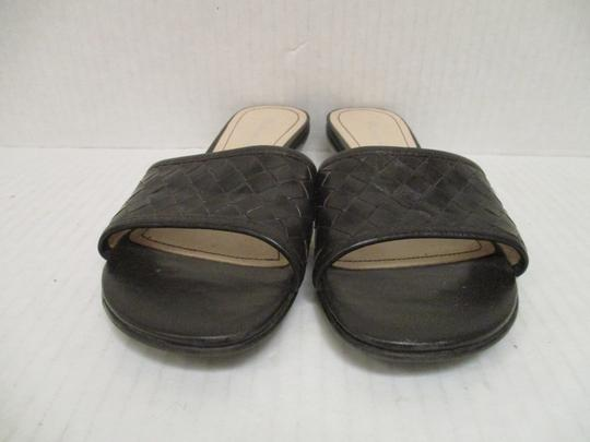 Etienne Aigner Woven Slip On Open Toe Brown Sandals Image 3