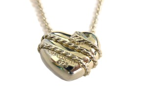 Tiffany & Co. Classic Arrow Wrapping Heart Pendant Sterling Necklace