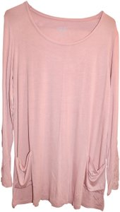 LOGO by Lori Goldstein Pink Tunic Layer Top Blush