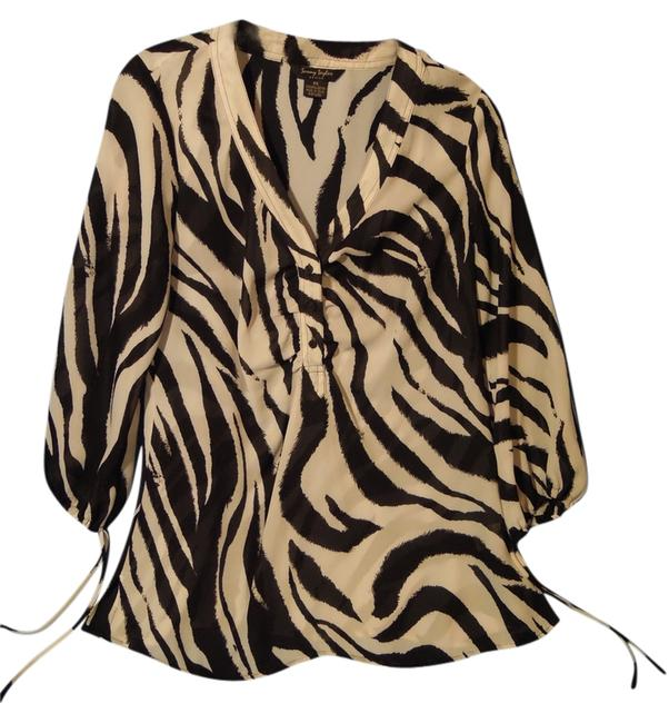 Preload https://item3.tradesy.com/images/sunny-taylor-zebra-109881-blouse-size-petite-6-s-2383837-0-0.jpg?width=400&height=650