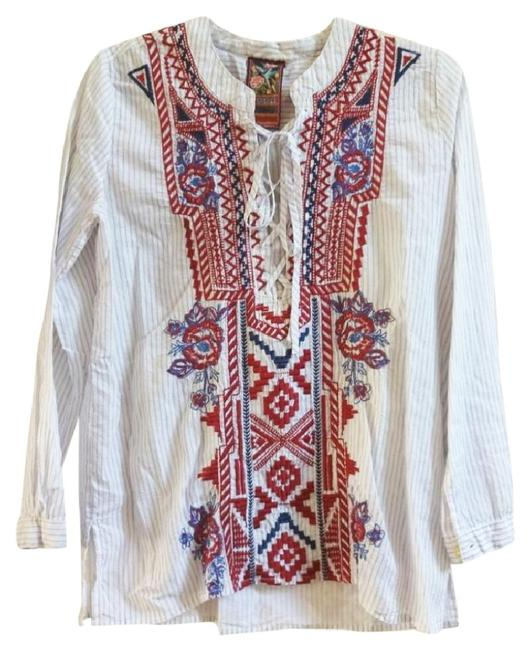 Preload https://img-static.tradesy.com/item/23838383/johnny-was-multicolor-lace-up-stripe-embroidered-blouse-size-6-s-0-4-650-650.jpg