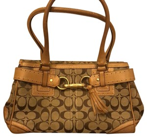 Coach Signature Satchel in brown/tan