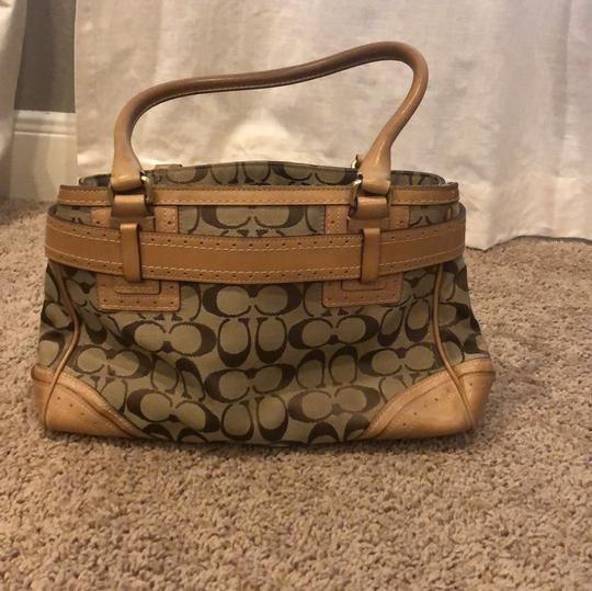 Coach Signature Satchel in brown/tan Image 3