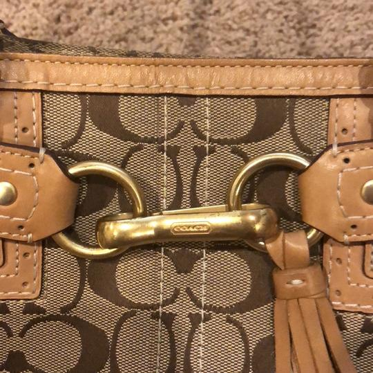 Coach Signature Satchel in brown/tan Image 8