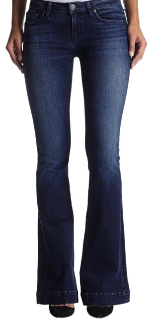 Hudson Medium Wash Denim Wm508dew Flare Leg Jeans Size 6 (S, 28) Hudson Medium Wash Denim Wm508dew Flare Leg Jeans Size 6 (S, 28) Image 1