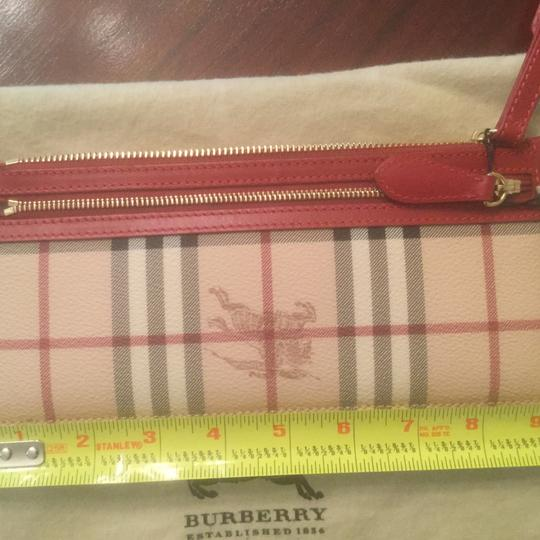 Burberry Haymarket Wristlet Wristlet in Burberry Haymarket with Red leather accent. Image 3