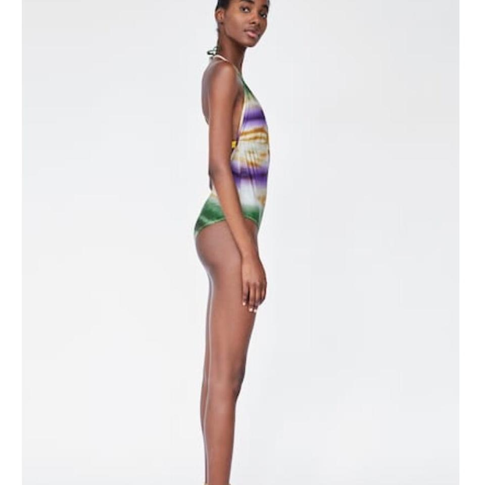 Print Bathing Zara Swimsuit Multicolored Tie piece dye Suit One 0wr6tnwq