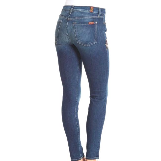 7 For All Mankind Size 26 Skinny Jeans-Medium Wash Image 1