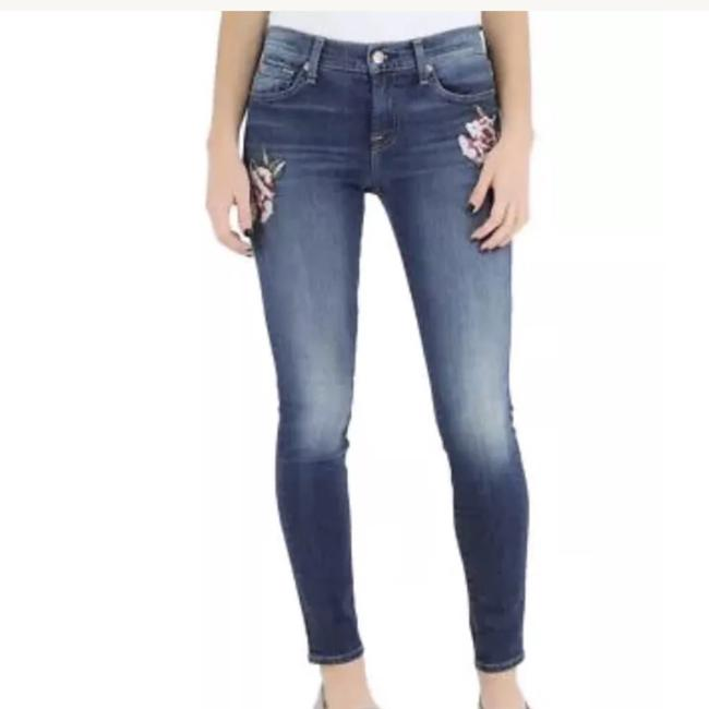7 For All Mankind Size 26 Skinny Jeans-Medium Wash Image 3
