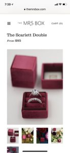 Scarlett Double Mrs Box Ring