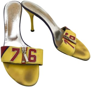 Dolce&Gabbana Vintage Vtg Leather 38.5 Yellow Red Sandals