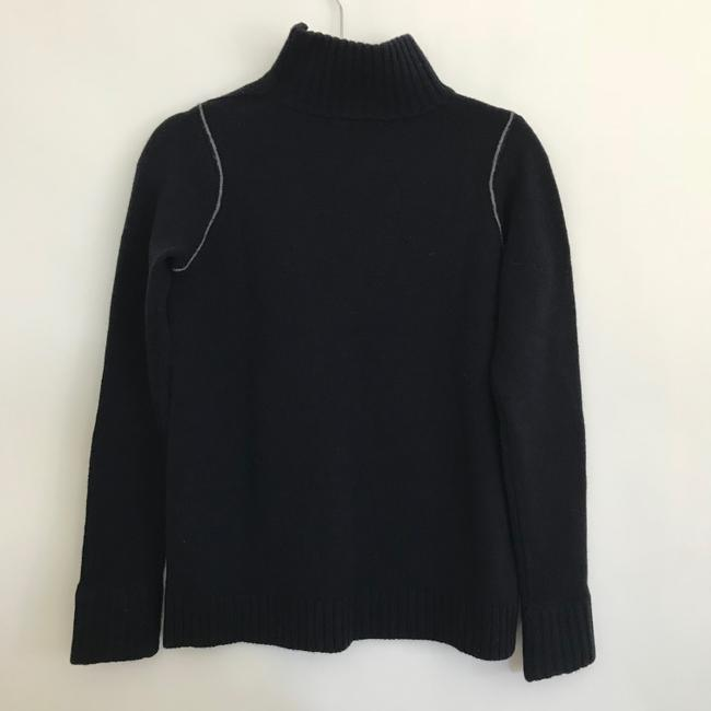 Vince Mock Chain Stitch Cashmere Wool Sweater Image 3