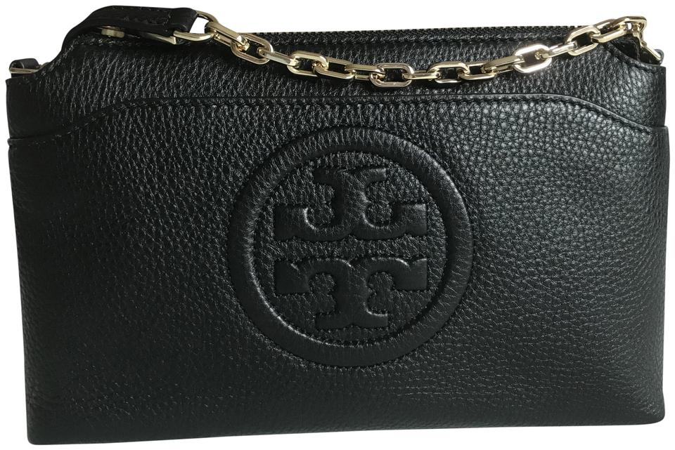 Bag Body Chain Tory Leather Cross Bombe Black Burch E7qwYUq0