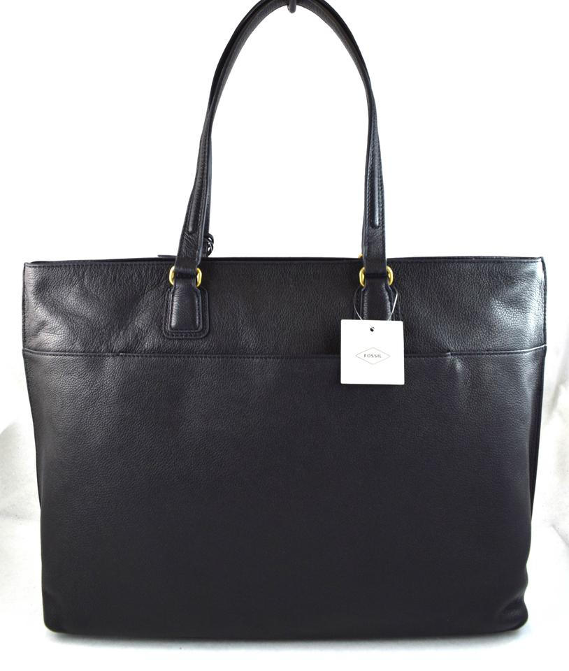 0725f6572 Fossil Julia Black Leather Tote - Tradesy