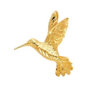 TD Collections 14K Yellow Gold Bird Pendant