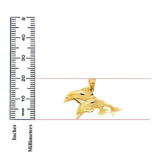 TD Collections 14K Yellow Gold Dolphin Pendant Image 1