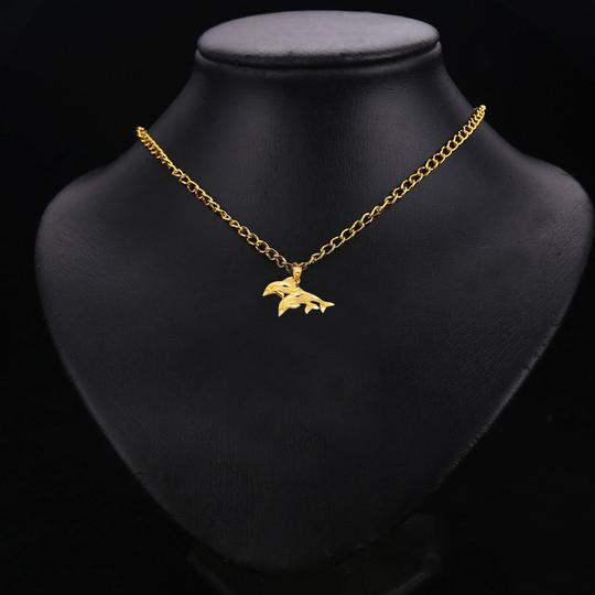 TD Collections 14K Yellow Gold Dolphin Pendant Image 2