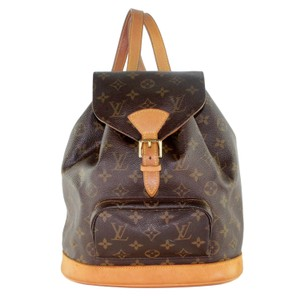 acc5025b4489 Louis Vuitton Montsouris Mm Monogram Leather Canvas Weekend Travel Bags  Backpack