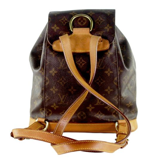 Louis Vuitton Montsouris Mm Monogram Leather Canvas Weekend Travel Bags Backpack Image 1