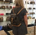 Louis Vuitton Montsouris Mm Monogram Leather Canvas Weekend Travel Bags Backpack Image 10