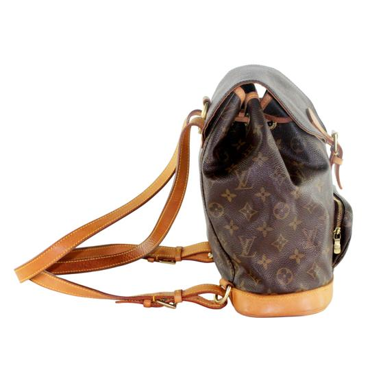 Louis Vuitton Montsouris Mm Monogram Leather Canvas Weekend Travel Bags Backpack Image 2