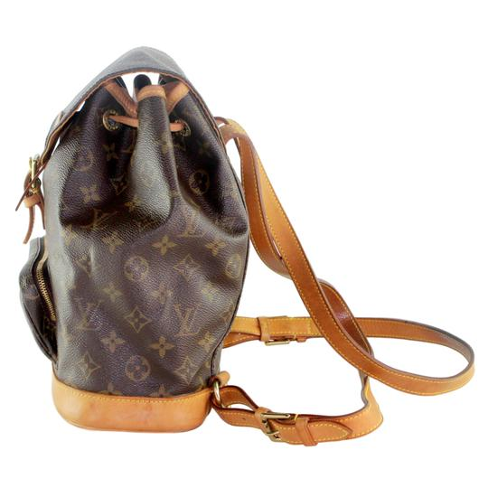 Louis Vuitton Montsouris Mm Monogram Leather Canvas Weekend Travel Bags Backpack Image 3