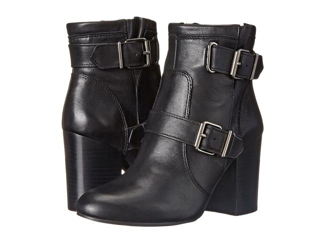Item - Black Simlee Leather Buckled Ankle Boots/Booties Size US 8 Regular (M, B)
