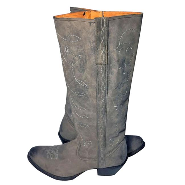 Item - Gray I4836 Mesquite Calfskin Cowgirl Boots/Booties Size US 9.5 Regular (M, B)