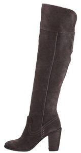DV by Dolce Vita Suede Leather Over The Knee Gray Boots