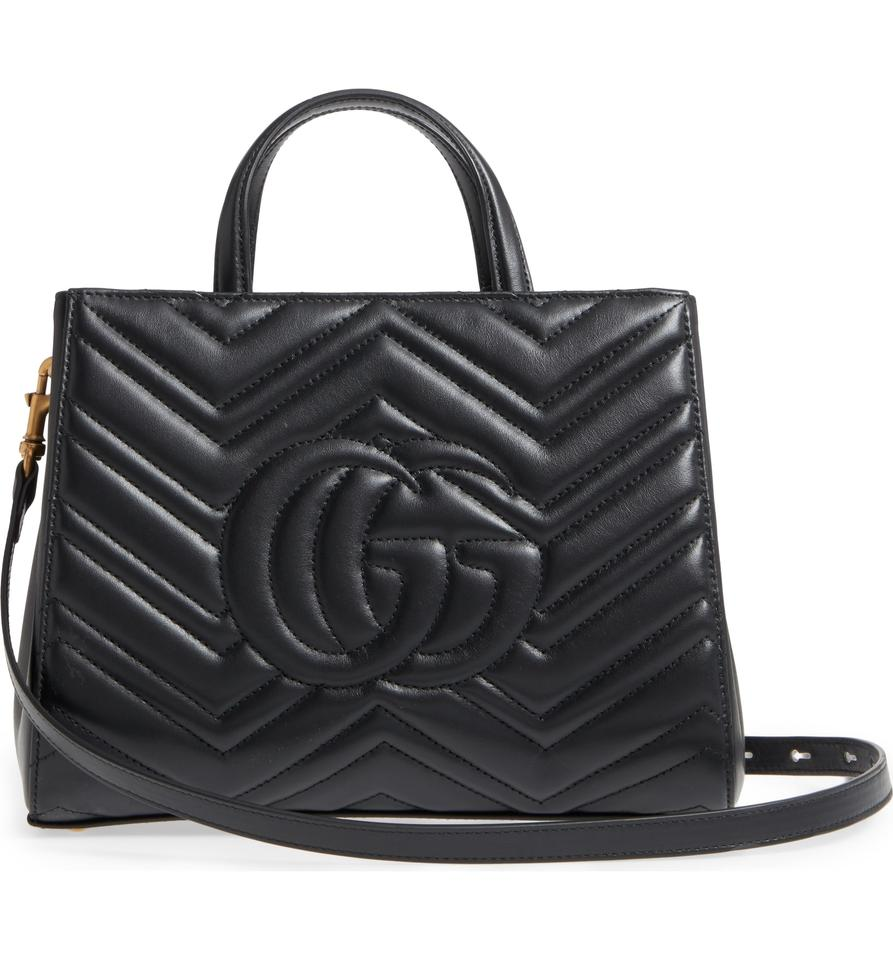 d2b3bab4999 Gucci Marmont New Gg Small 2.0 Matelassé Leather Top Handle Satchel Tote -  Tradesy