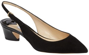 Jimmy Choo Gemma Slingback 42 Black Pumps