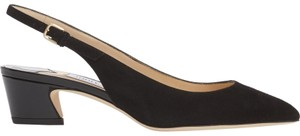 Jimmy Choo Gemma Slingback 37 Black Pumps