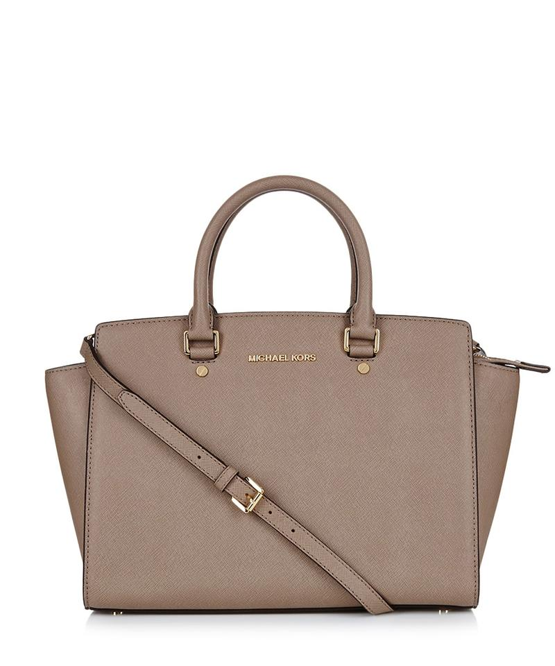 c17d4c32007c ... soft pink leather medium satchel handbag 79e61 c4d28  australia michael  kors saffiano leather purse selma satchel in dark dune gold hardware ae1dd  45809