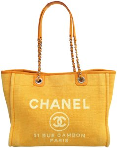 Chanel Deauville Canvas Shoulder Bag