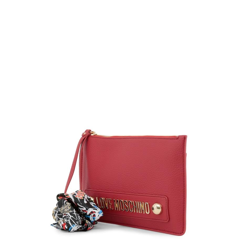 Clutch Leather Synthetic Red Moschino Love RX0YqIy