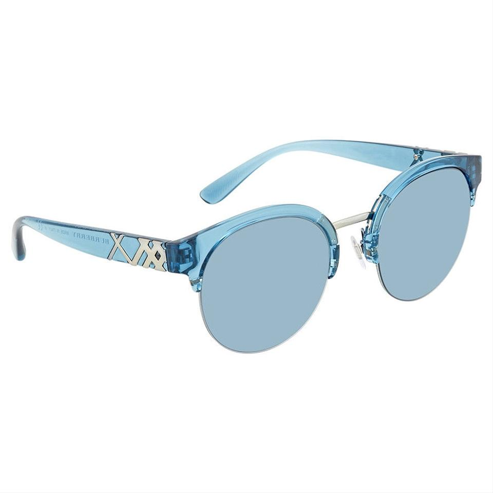 6e7a081cbe995 Burberry Burberry Blue Round Sunglasses BE4241-367280-52 ...