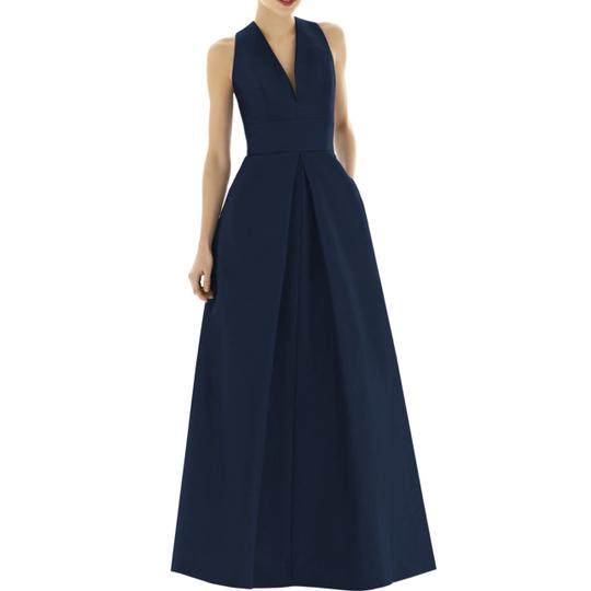 Preload https://item2.tradesy.com/images/alfred-sung-midnight-blue-dupioni-a-line-gown-formal-bridesmaidmob-dress-size-10-m-23840626-0-0.jpg?width=440&height=440