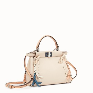 Fendi Peekaboo Leather Satchel in Pink