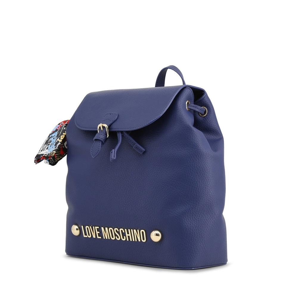 Synthetic Love Moschino Leather Blue Backpack Rucksack w1zZ1q7