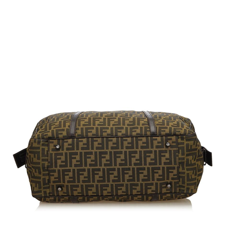 X Travel Baguette Zucca X Fendi Fabric Leather X Brown Others Jacquard qpUnRY4x